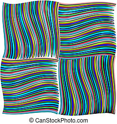 green and blue twisted stripes texture