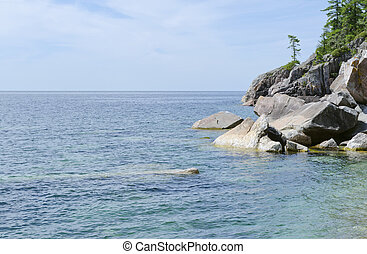 Superior Lake - Green and blue water of Superior Lake, ...