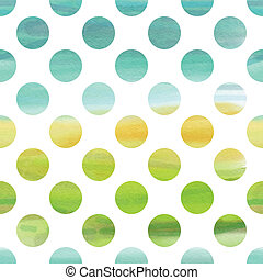 Green and blue watercolor pattern