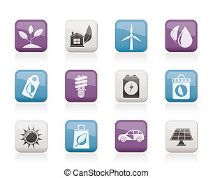 Green and Environment Icons