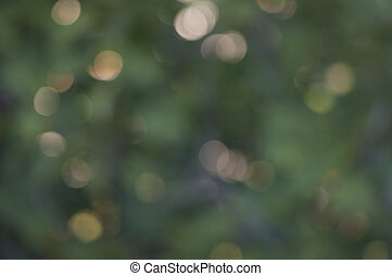 Green and gold bokeh texture