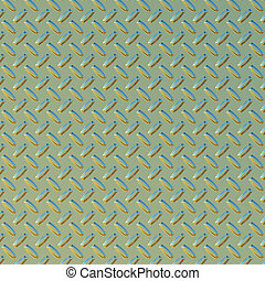 green and gold diamond plate - a large sheet of green and...
