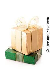 Green and gold gifts