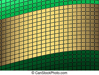Green and golden frame (vector)