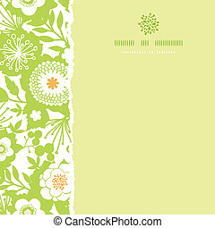 Green and golden garden silhouettes square torn seamless pattern background