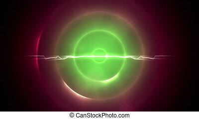 Green and magenta circles with a li