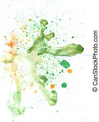 Green and Orange Painted Texture