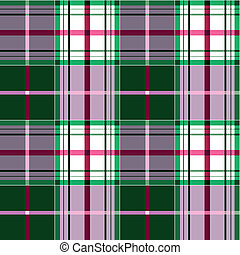 Green and pink tartan plaid fabric
