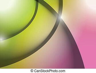 green and pink wave lines graphic illustration design...