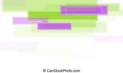 Green and purple minimal geometric video animation - Green...