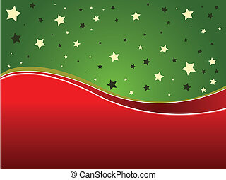 Green and red background