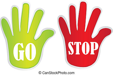 go and stop hands