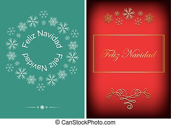 green and red greeting postcards for christmas - vector...