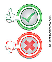 Green and red icon - Creative design of green and red icon