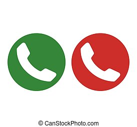 Green and Red Phone Icon