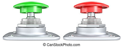 Green and Red push buttons.