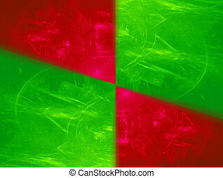 Green and Red squares - abstract background