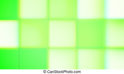 Green and Salad Square Led Buttons
