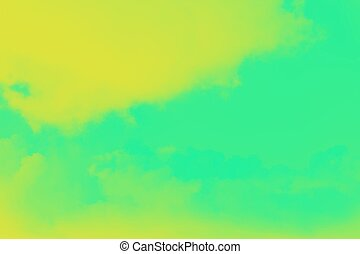 Green and vivid yellow blurred abstract background
