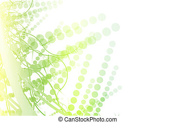 Green and White Abstract Billboard Background With Copyspace