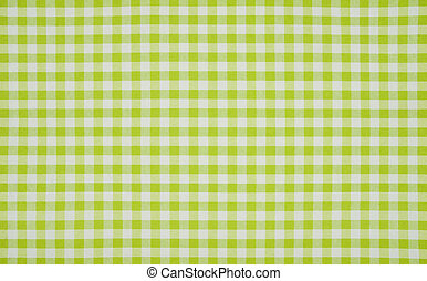 Perfect Green And White Checkered Tablecloth