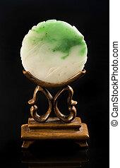 Green and White Jade Screen.