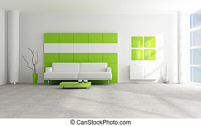 green and white modern lounge