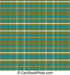 Green and White Plaid Background Illustration