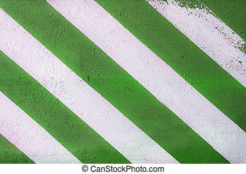 Green and white road marking