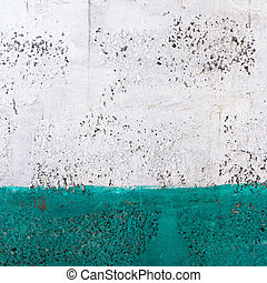 Green and white wall texture