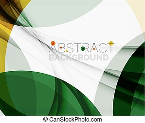 Green and yellow color elegant abstraction. For your eco message