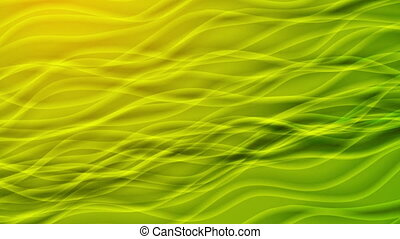 Green and yellow curved lines video animation
