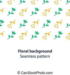 Green and yellow flowers fancy backdrop pattern