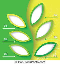 Green and yellow infograhpic