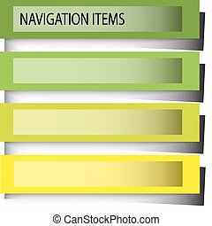 navigation items