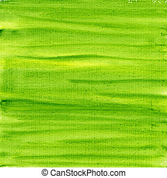green and yellow watercolor abstract on canvas - texture of ...