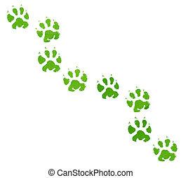 Green animal footprint
