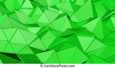 green animated low poly. 3d rendering - green animated low...