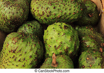green annona fruits as nice natural food background