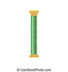 Green antique column vector Illustration on a white background