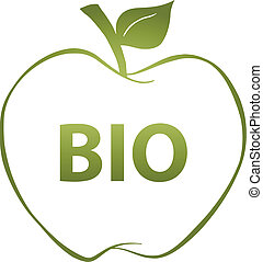 Green Apple And Text BIO