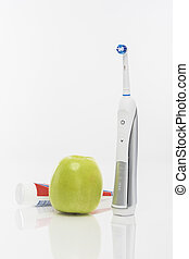 Green Apple and Toothbrush