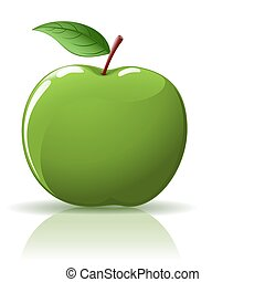 Green apple - Beautiful green apple isolated on white