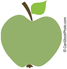 Green Apple Cartoon Character