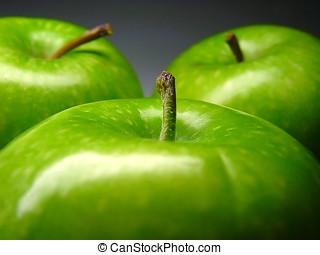 Green apple close-up