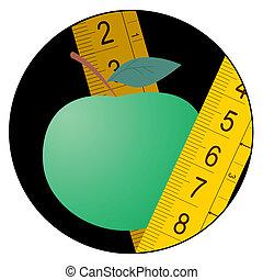 Green apple diet icon