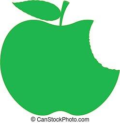 Green Apple Eaten