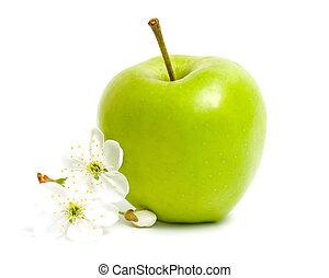 Green apple & flower