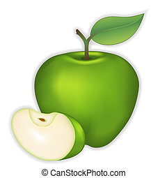 Green Apple - Fresh, natural orchard garden green apple and ...