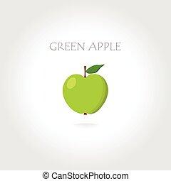 green apple illustration